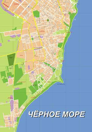 Карта коблево пансионаты